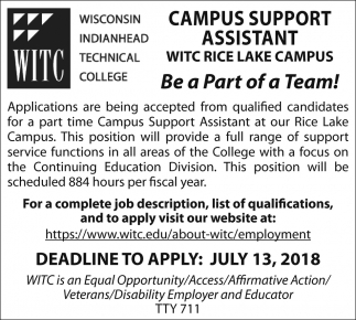 Campus Support Assistant