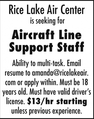 Aircraft Ground Support Staff