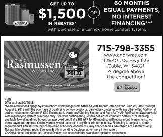 Get up to $1,500 in rebates*