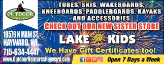 Tubes, Skis, Wakeboards, Kneeboards