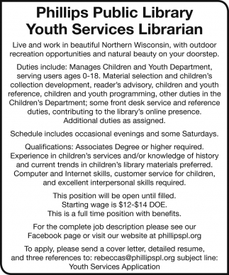 Youth Services Librarian