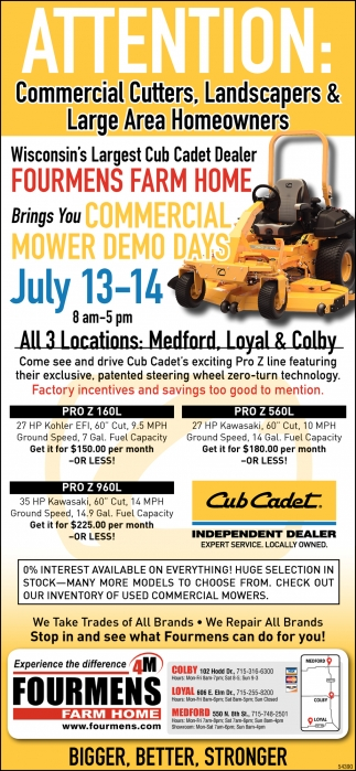 Commercial Mower Demo Days