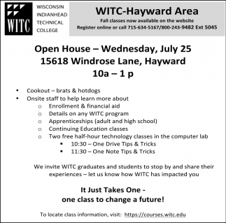 WITC Summer Open House