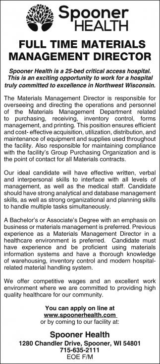 Materials Management Director