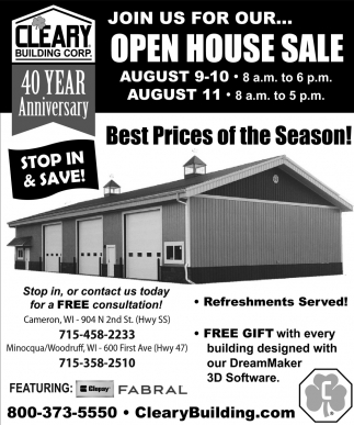 Open House Sale
