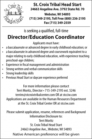 Director/Education Coordinator