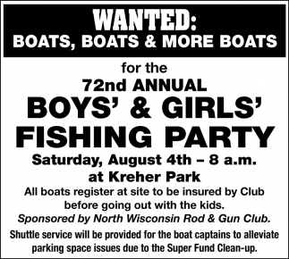 72nd Annual Boys & Girls Fishing Party