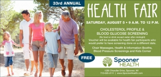 33rd Annual Health Fair