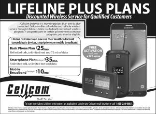 Lifeline Plus Plans, Cellcom, De Pere, WI