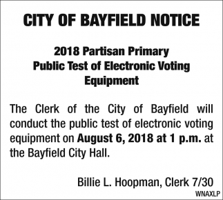 Public Test of Electronic Voting Equipment