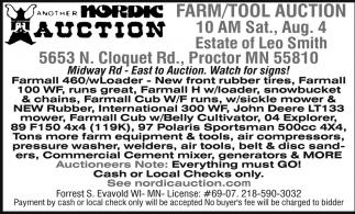 Farm/Tool Auction