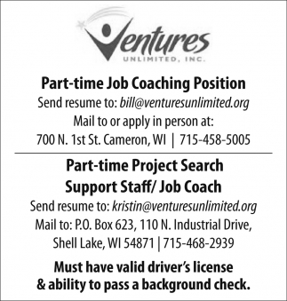 Job Coaching, Project Search, Support Staff