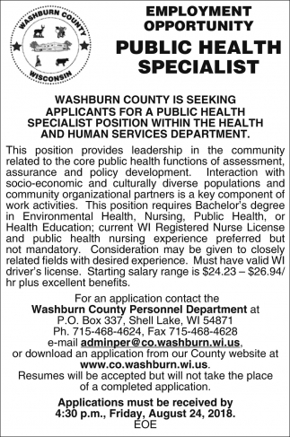 Public Health Specialist
