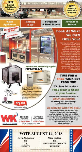 Heating & AC, Fireplaces & Wood Stores, Propane & Service