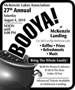 27th Annual Booya!