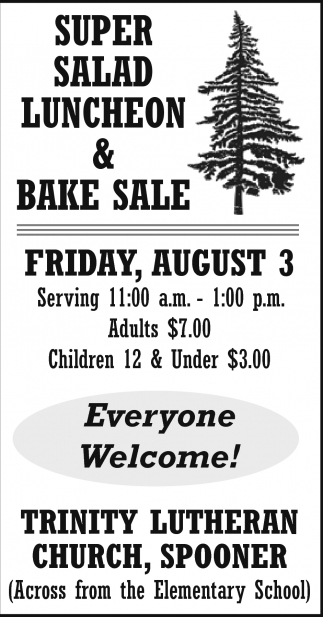 Super Salad Luncheon & Bake Sale