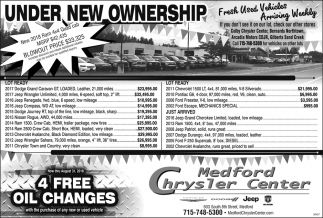 Used Vehicles Arriving Weekly Medford Chrysler Center