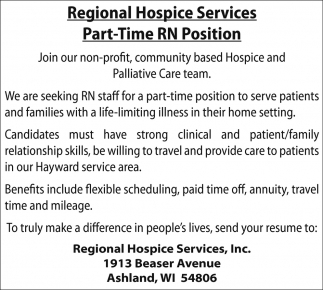 Part-Time RN Position