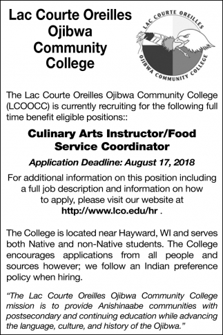 Culinary Arts Instructor - Food Service Coordinator