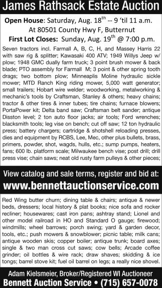James Rathsack Estate Aution