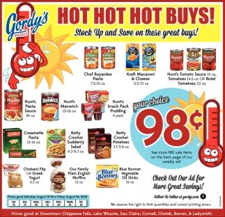 Hot Hot Hot Buys