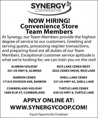 Convenience Store Team Members