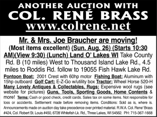 Mr & Mrs Joe Braucher Are Moving!