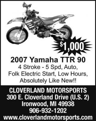 2007 Yamaha TTR 90