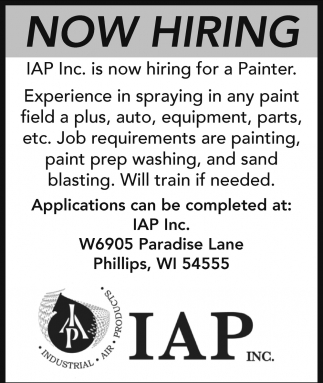 Now Hiring - Painter