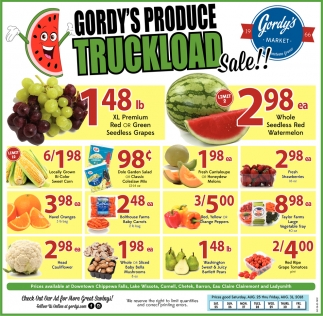 Gordy's Produce Truckload Sale