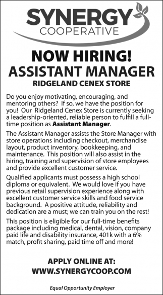 Assistant Manager