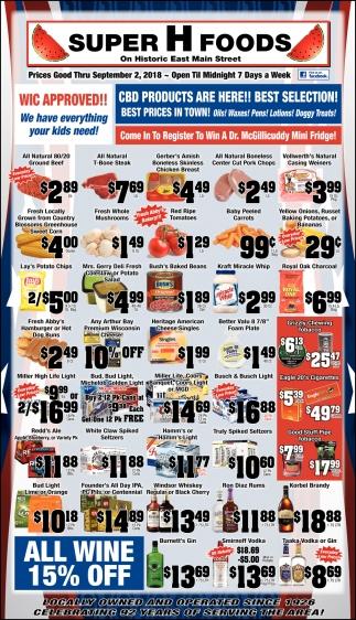 Prices Thru September 2, 2018