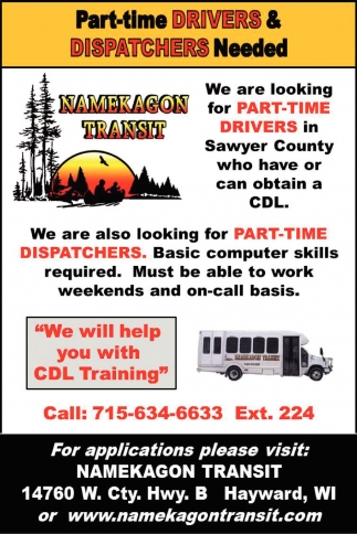 Part-Time Drivers and Dispatchers