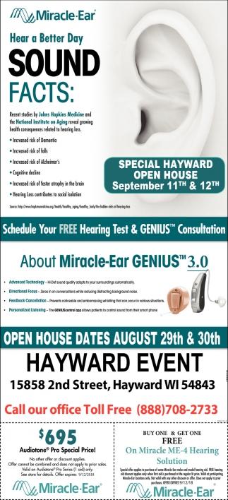 Special Hayward Open House