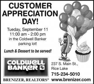 Customer Appreciation Day - September 11
