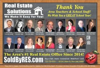 Thank You Area Teachers & School Staff