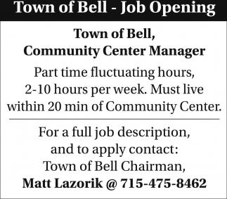Community Center Manager