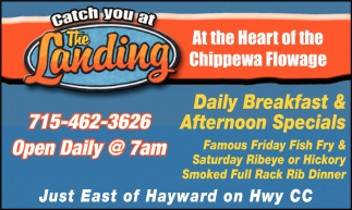 Daily Breakfast and Afternoon Specials