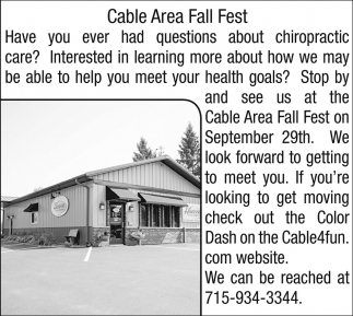 Cable Area Fall Fest
