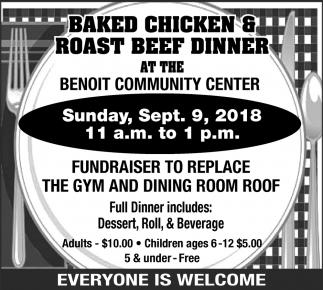 Baked Chicken & Roast Beef Dinner