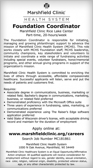 Foundation Coordinator