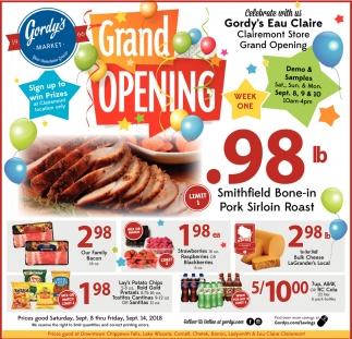 Grand Opening Gordy S Eau Claire Gordy S Market Barron Wi