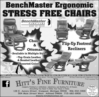 Attractive BenchMaster Ergonomic Stress Free Chairs, Hittu0027s Fine Furniture, Ashland, WI