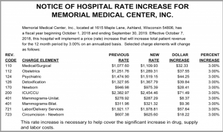 Rate Increase