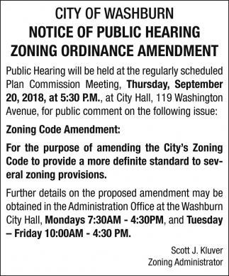 Zoning Ordinance Amendment