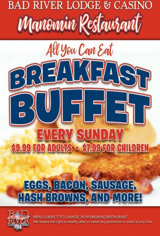Manomin All You Can Eat Breakfast Buffet