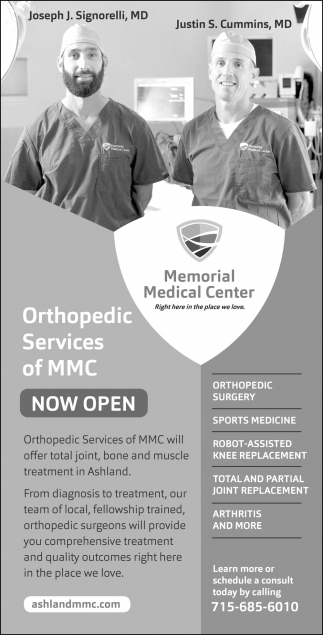 Orthopedic Services Of MMC Now Open