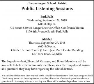 Public Listening Sessions