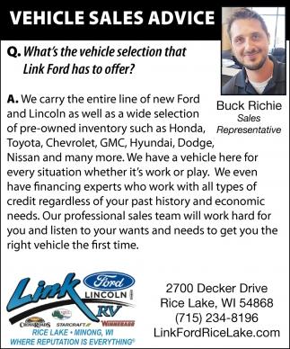 Vehicle Sales Advice