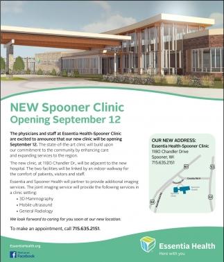 New Spooner Clinic Opening September 12